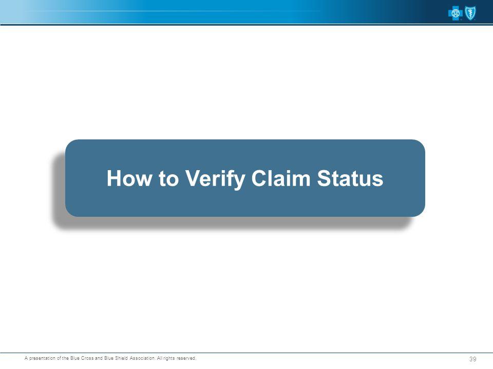 How to Verify Claim Status