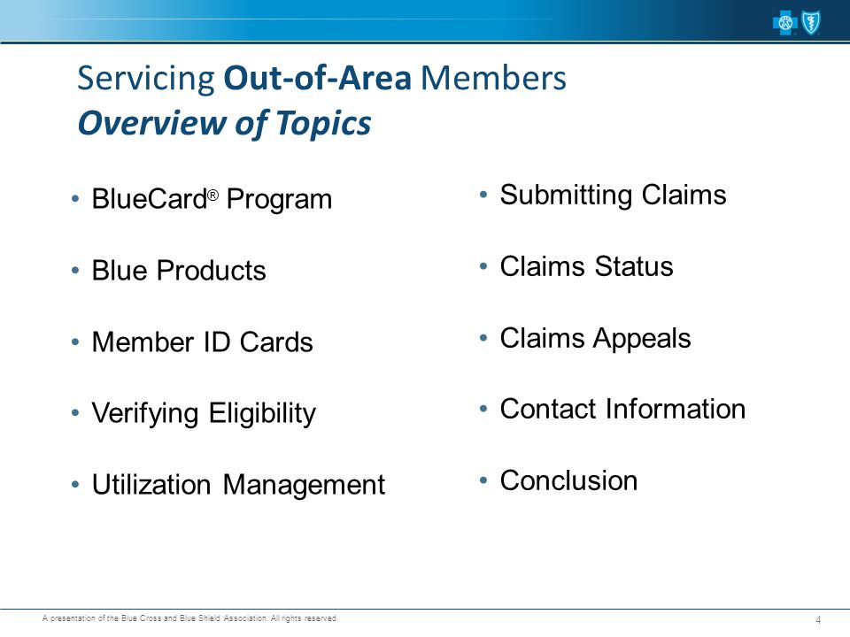 Servicing Out-of-Area Members Overview of Topics