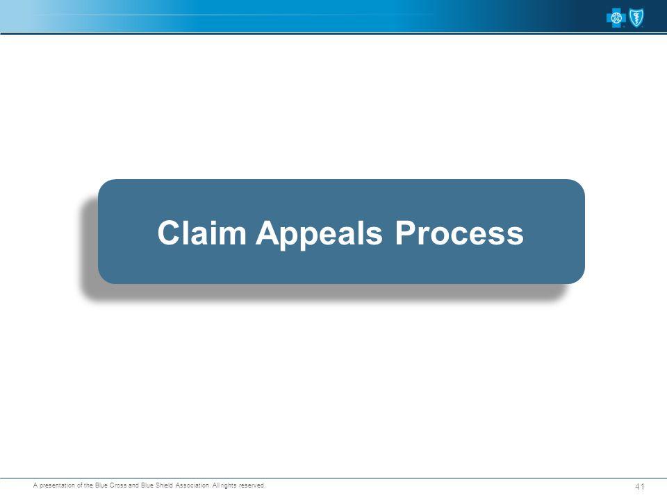 Claim Appeals Process