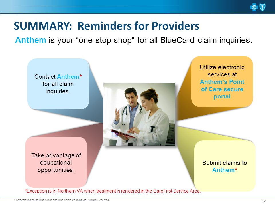 SUMMARY: Reminders for Providers