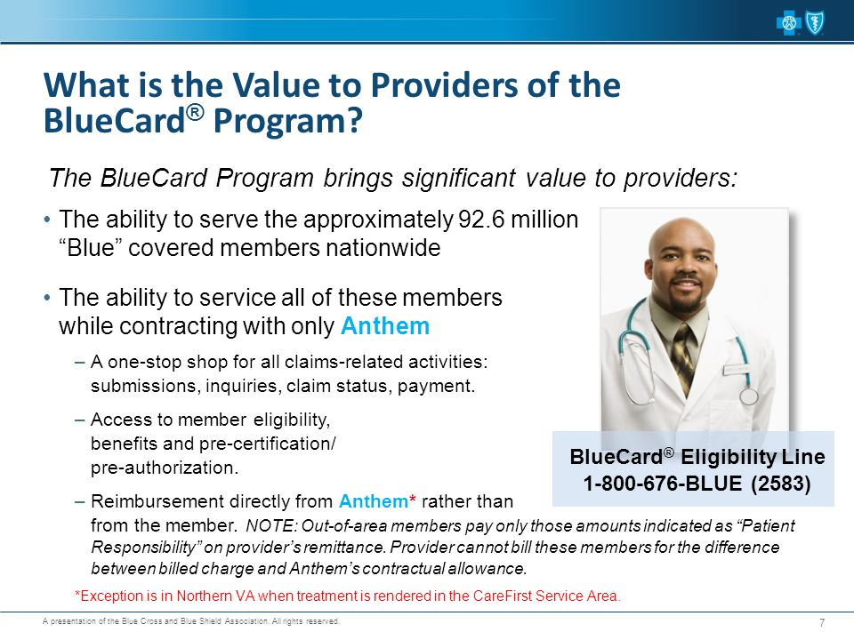 What is the Value to Providers of the BlueCard® Program