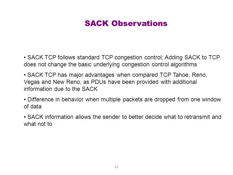 SACK Observations