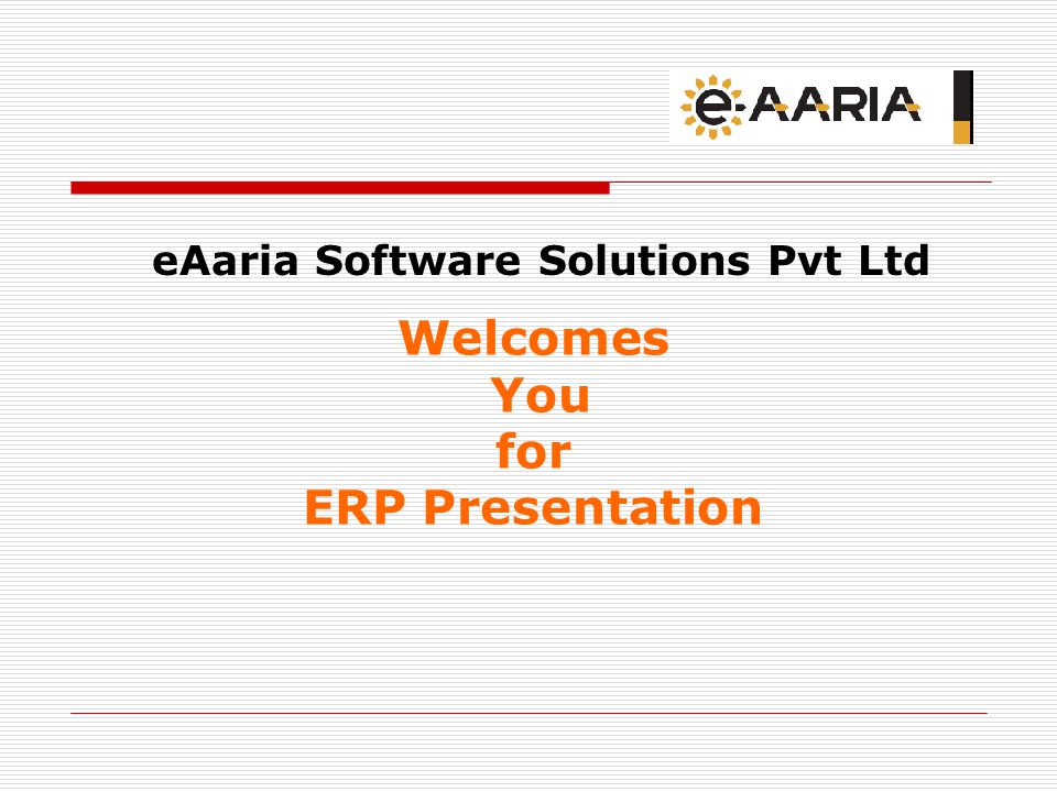 eAaria Software Solutions Pvt Ltd