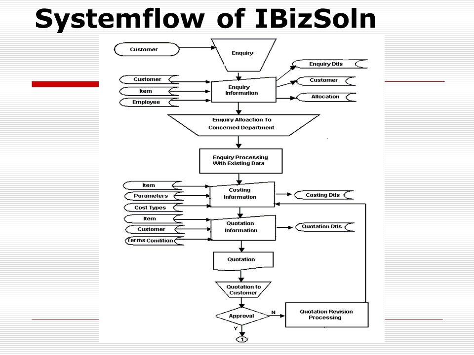 Systemflow of IBizSoln