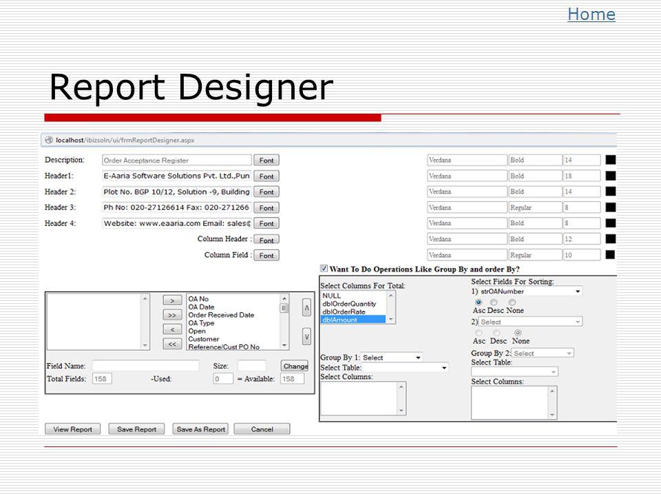 Home Report Designer