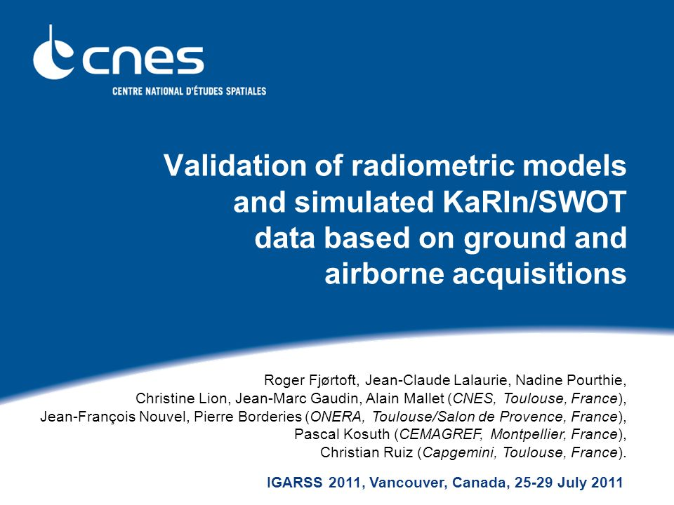 Validation of radiometric models and simulated KaRIn/SWOT data based on ground and airborne acquisitions