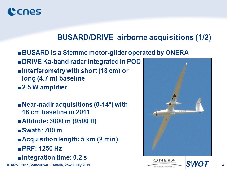 BUSARD/DRIVE airborne acquisitions (1/2)