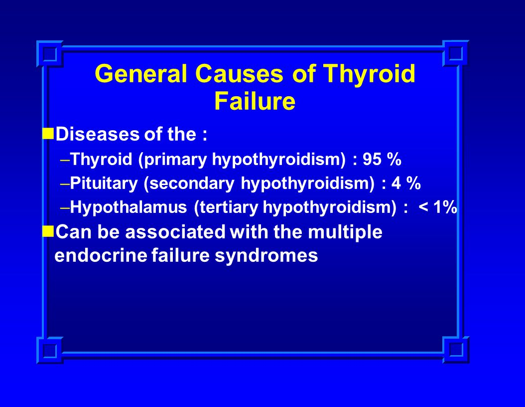General Causes of Thyroid Failure
