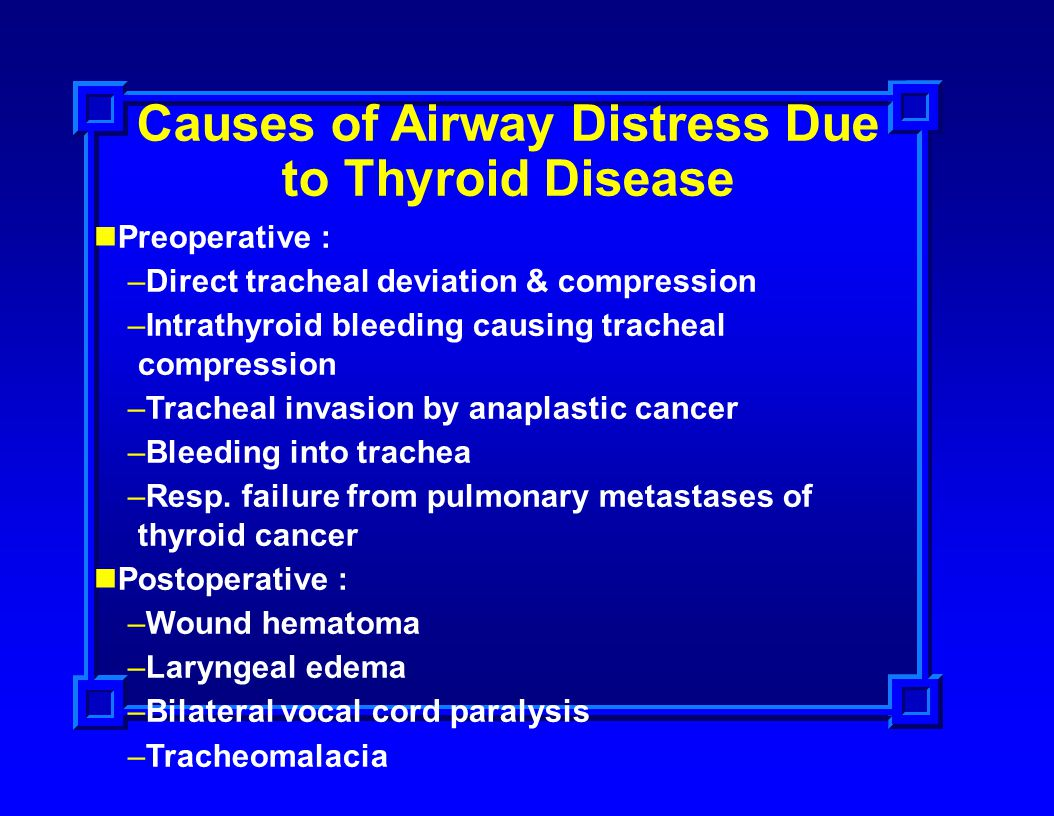 Causes of Airway Distress Due to Thyroid Disease