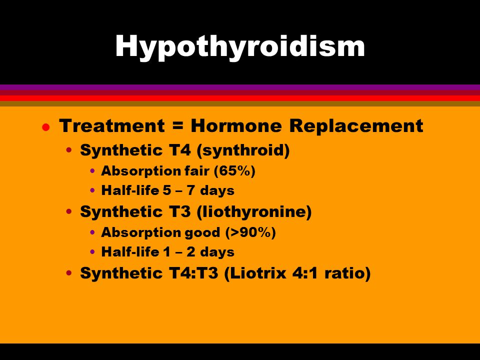 Hypothyroidism Treatment = Hormone Replacement