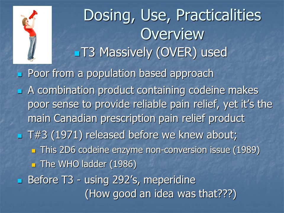 Dosing, Use, Practicalities Overview