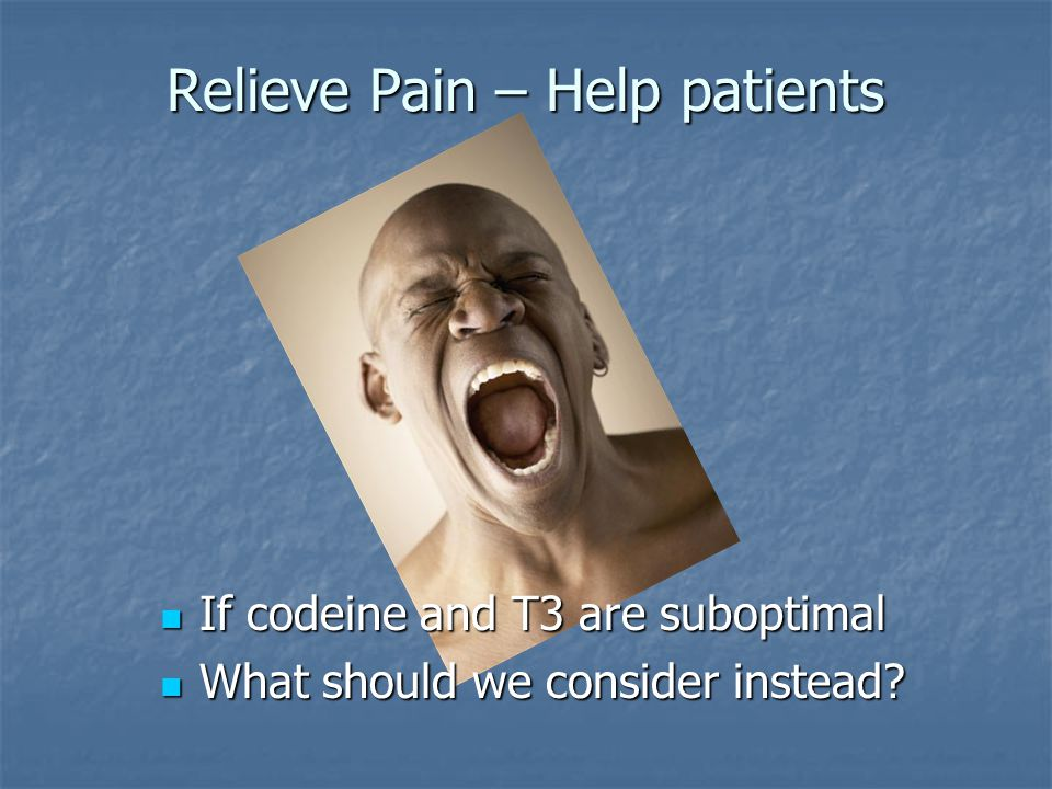 Relieve Pain – Help patients