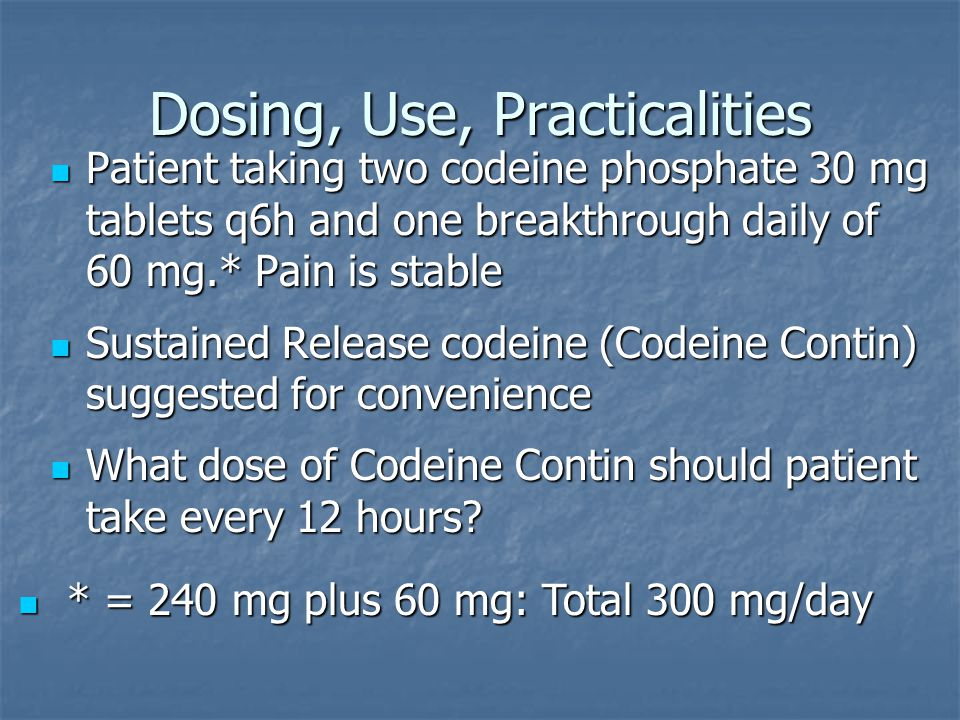 Dosing, Use, Practicalities