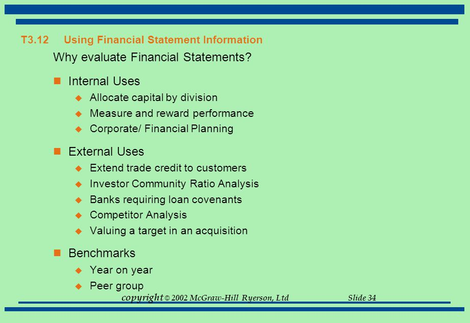 T3.12 Using Financial Statement Information