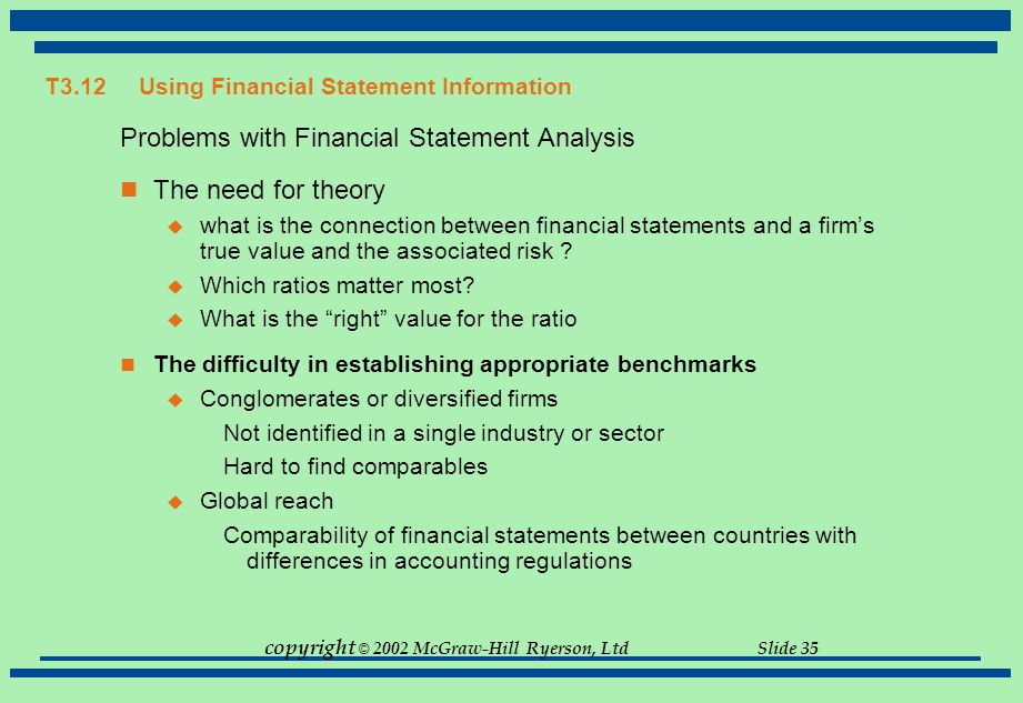 financial statement anaylsis identify the industry An analysis of the accounts receivable may have alerted business owners   analyze financial information to find ways to improve profitability, identify  by  benchmarking certain key income statement lines with industry data,.