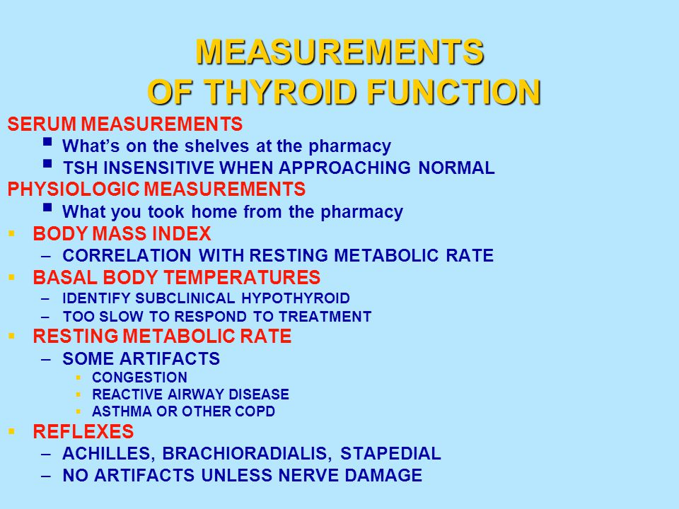MEASUREMENTS OF THYROID FUNCTION