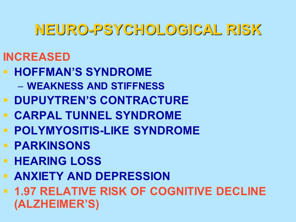 NEURO-PSYCHOLOGICAL RISK