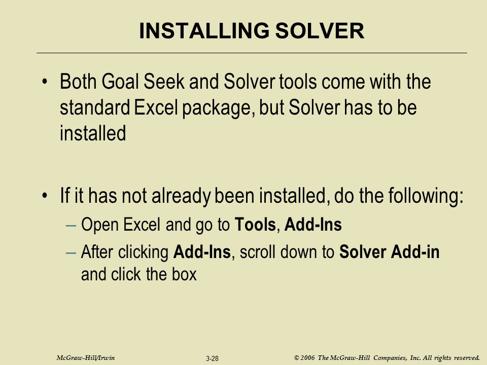 If it has not already been installed, do the following:
