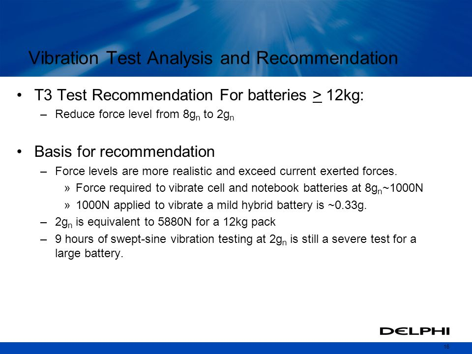Vibration Test Analysis and Recommendation