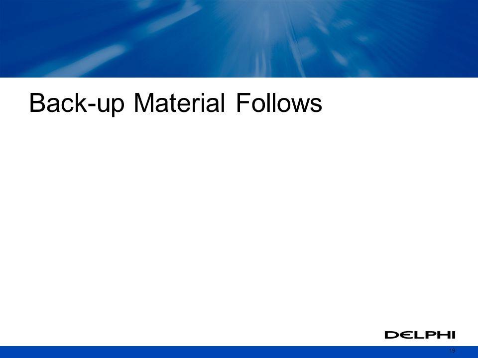 Back-up Material Follows