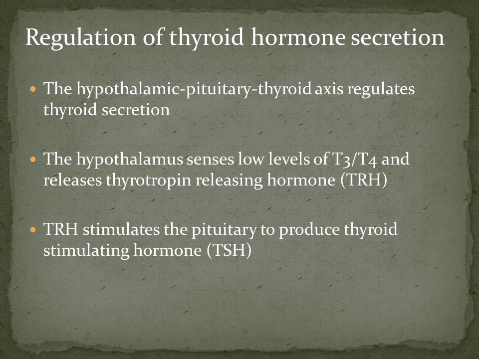 Regulation of thyroid hormone secretion