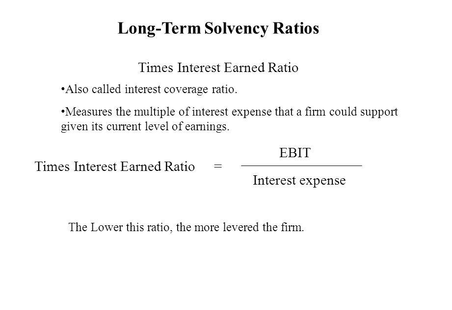 Long-Term Solvency Ratios