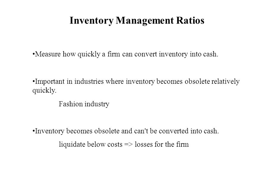 Inventory Management Ratios
