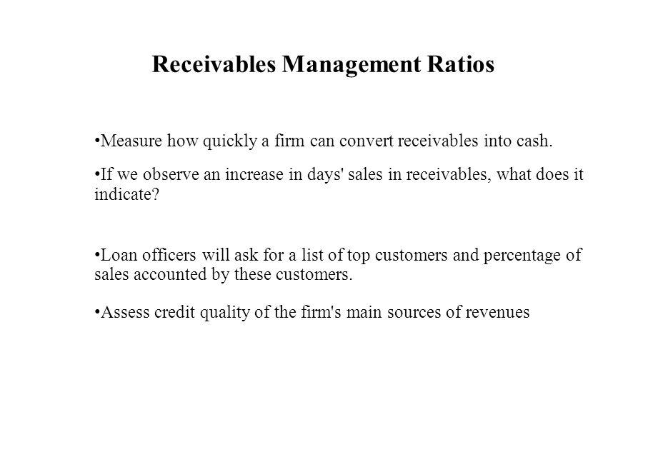 Receivables Management Ratios