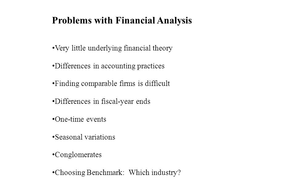 Problems with Financial Analysis