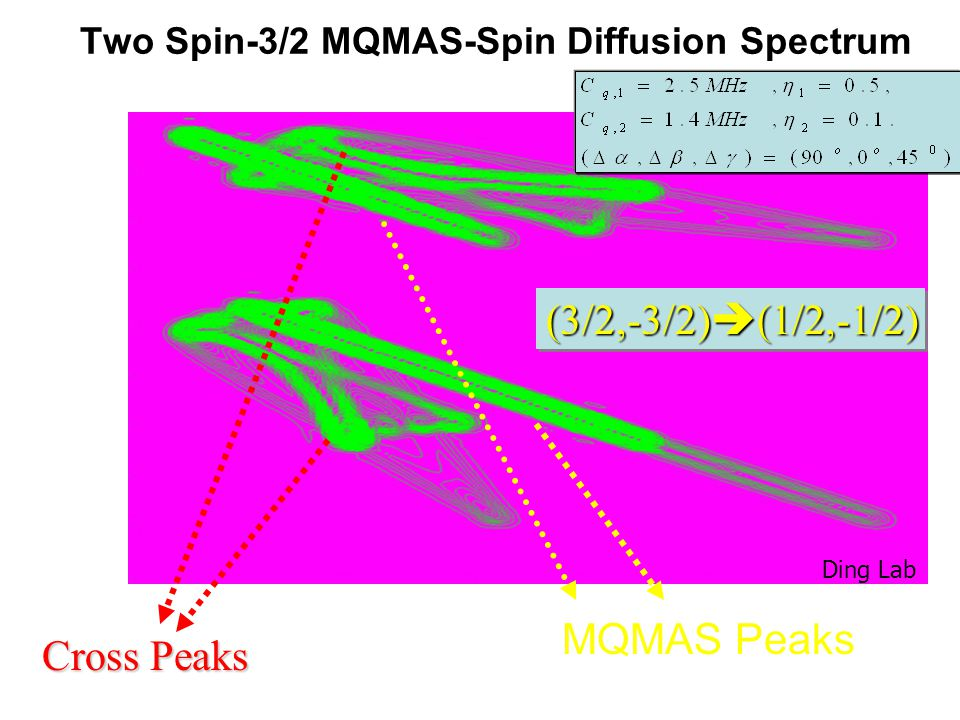 Two Spin-3/2 MQMAS-Spin Diffusion Spectrum