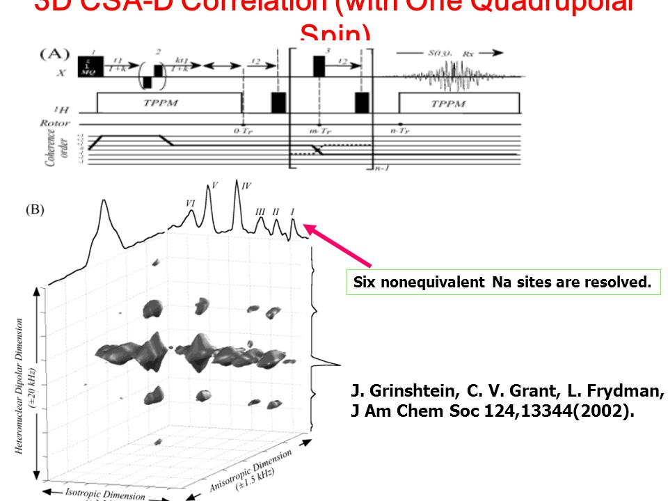 3D CSA-D Correlation (with One Quadrupolar Spin)