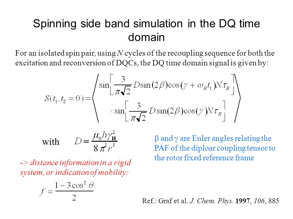 Spinning side band simulation in the DQ time domain