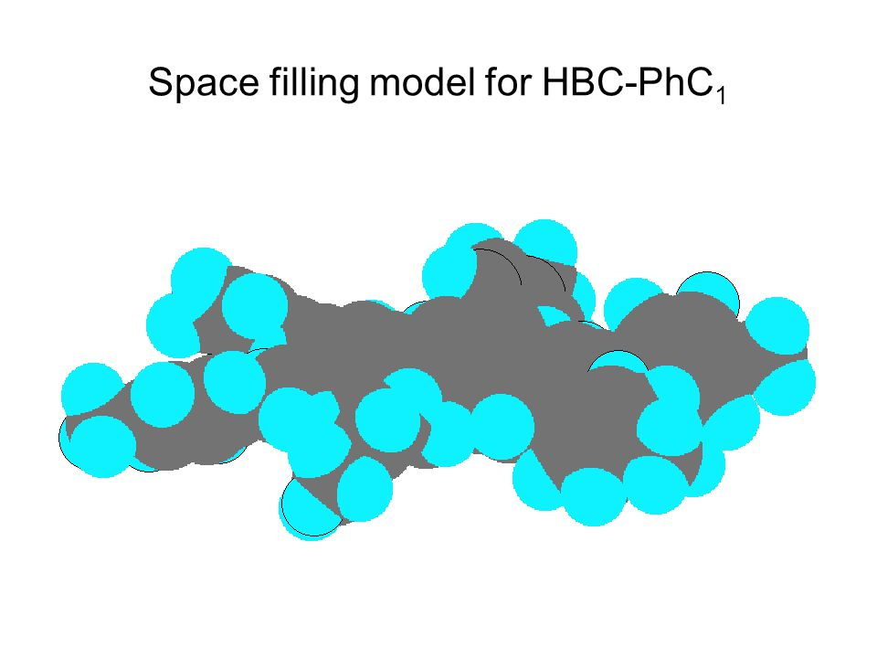 Space filling model for HBC-PhC1