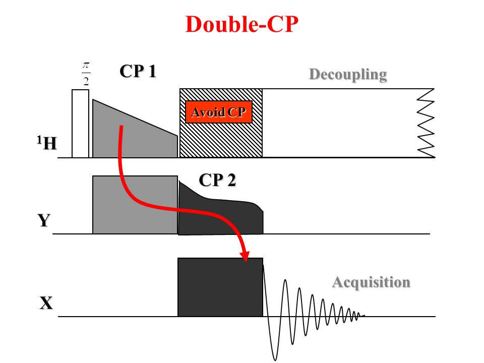 Double-CP CP 1 Decoupling Avoid CP 1H CP 2 Y Acquisition X