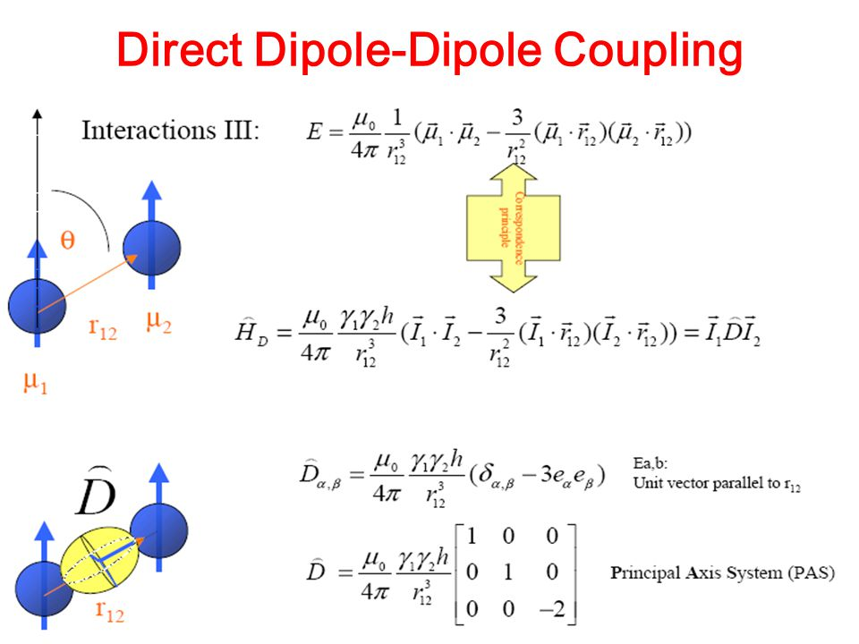 Direct Dipole-Dipole Coupling