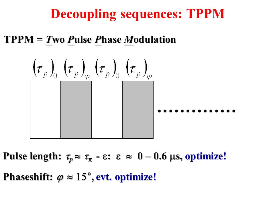 Decoupling sequences: TPPM