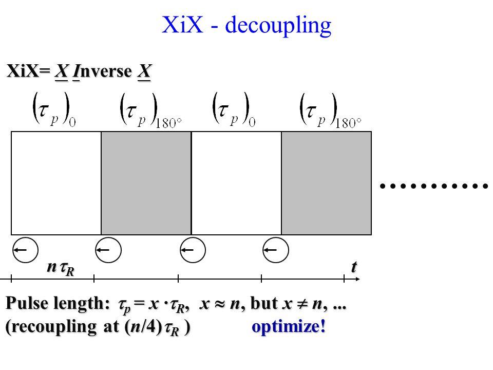 XiX - decoupling XiX= X Inverse X ntR t