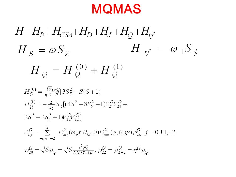 MQMAS