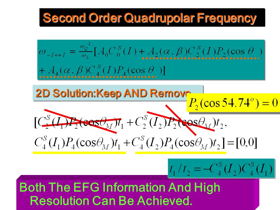 Second Order Quadrupolar Frequency