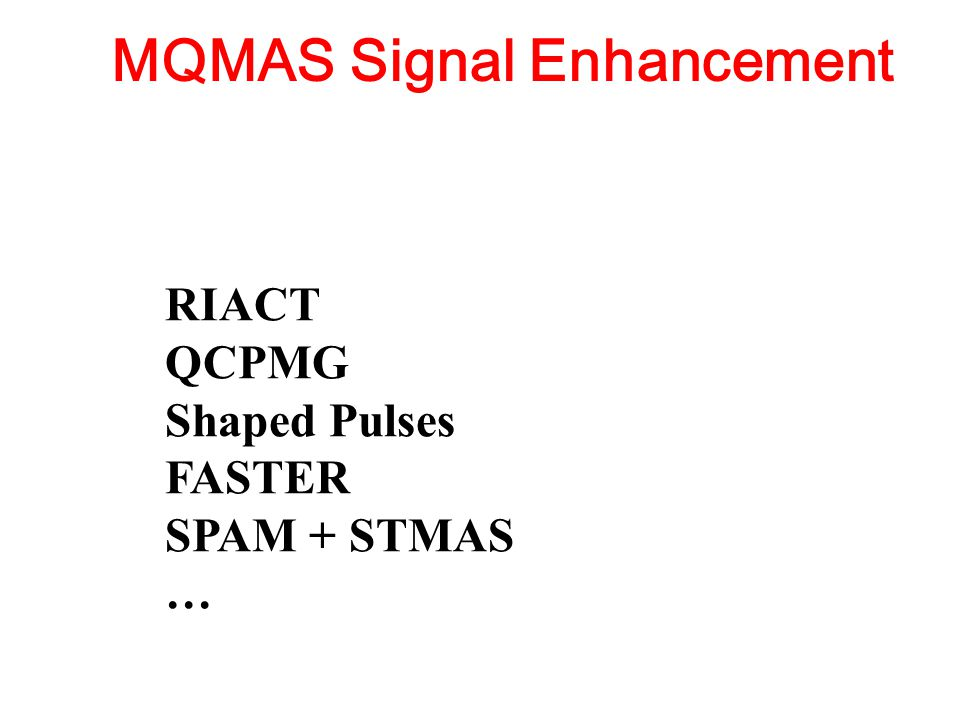 MQMAS Signal Enhancement