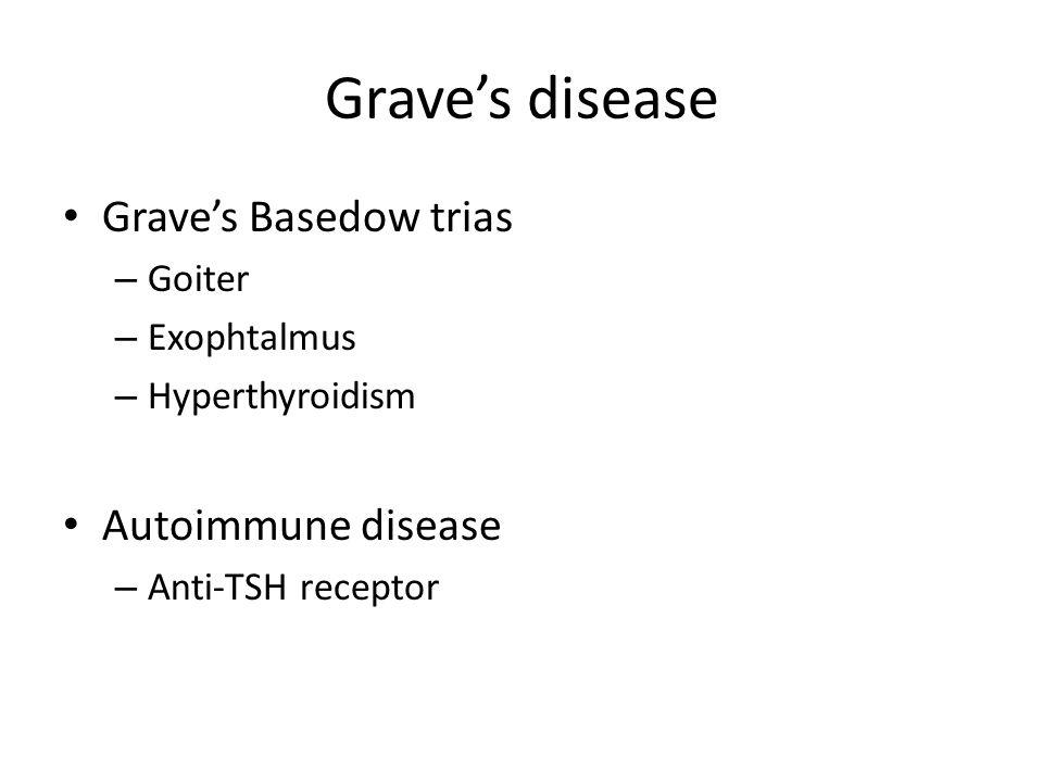 Grave's disease Grave's Basedow trias Autoimmune disease Goiter