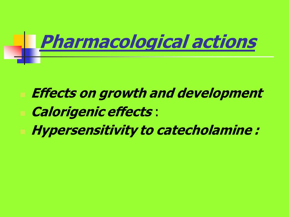 Pharmacological actions