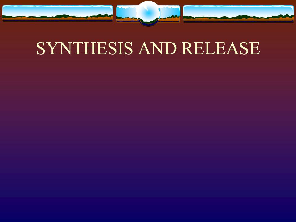 SYNTHESIS AND RELEASE