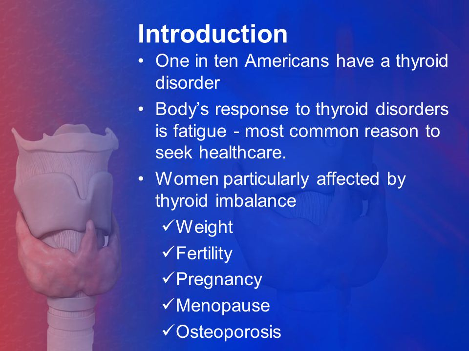 Introduction One in ten Americans have a thyroid disorder