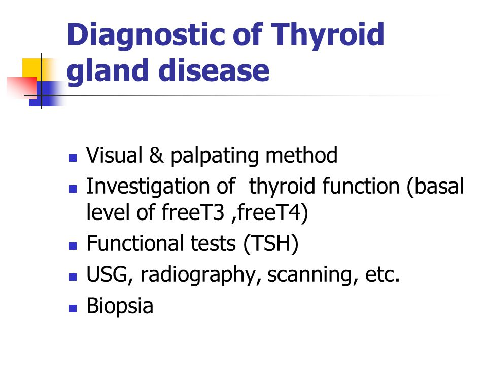 Diagnostic of Thyroid gland disease