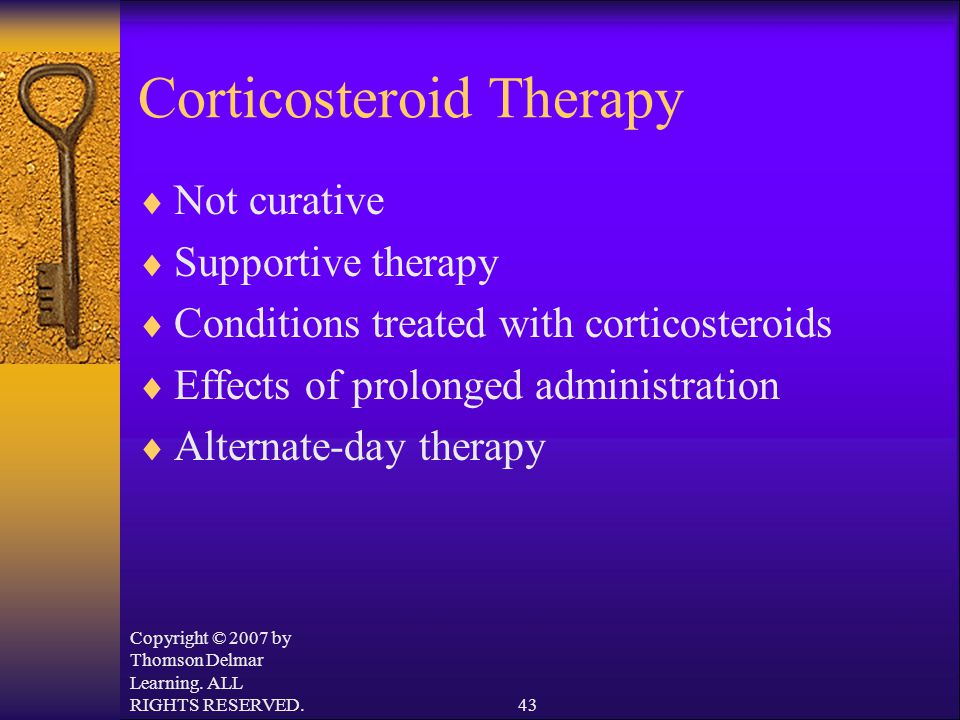 Corticosteroid Therapy