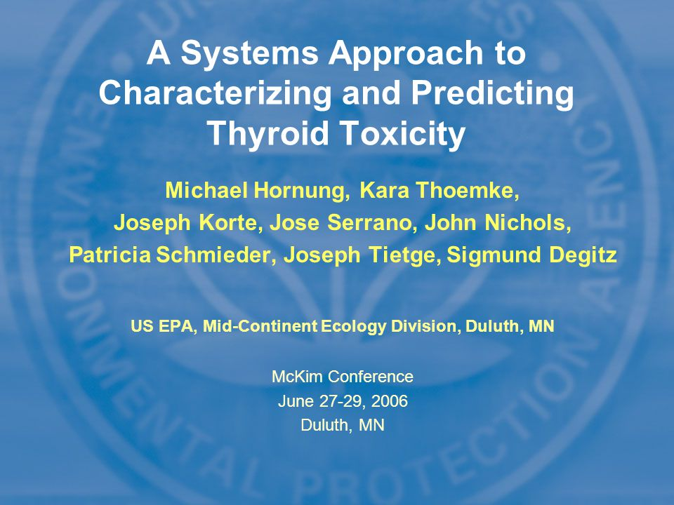 A Systems Approach to Characterizing and Predicting Thyroid Toxicity