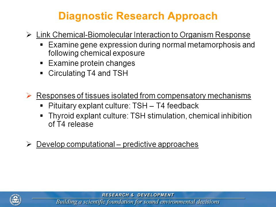 Diagnostic Research Approach