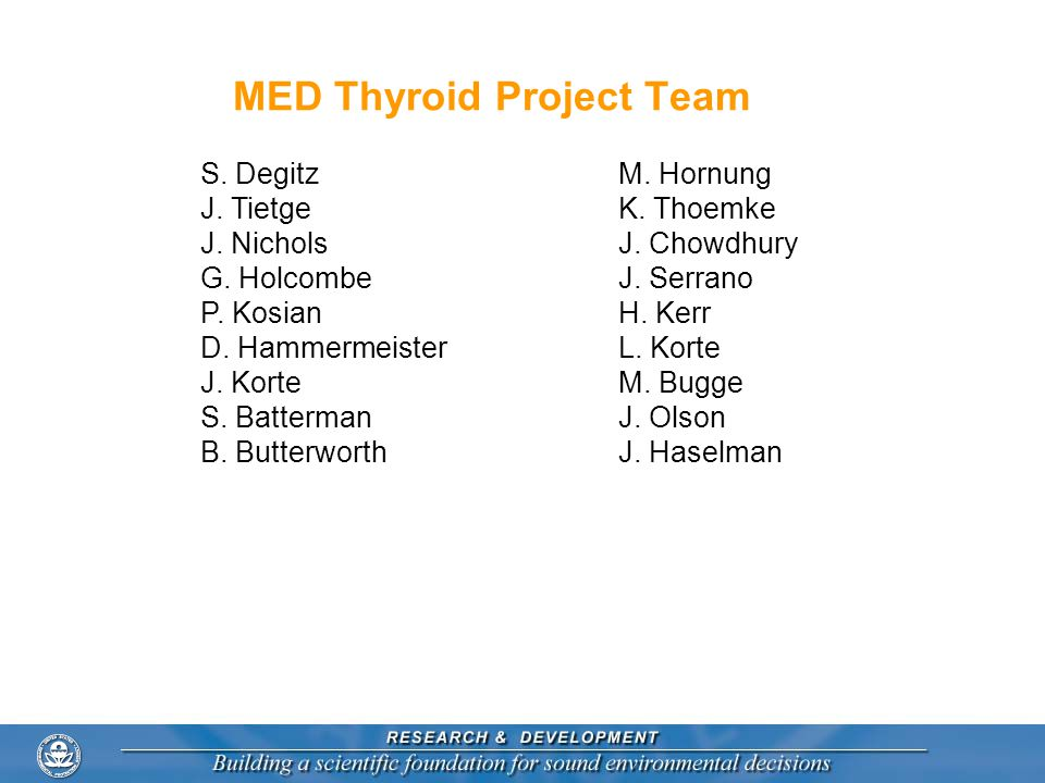MED Thyroid Project Team