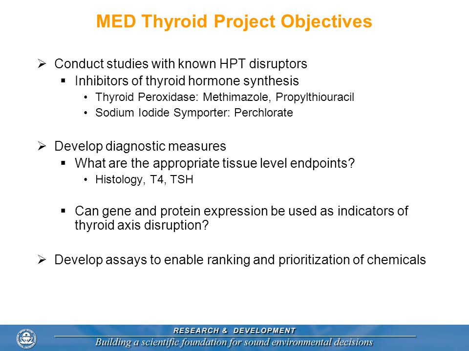 MED Thyroid Project Objectives